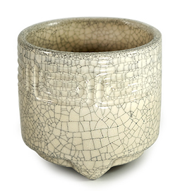 Raku Cream Incense Censer
