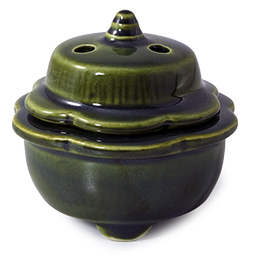 Small Covered Incense Bowl for Cones