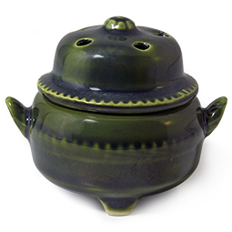 Medium Covered Incense Bowl for Cones